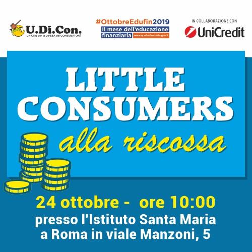"""Mese dell'Educazione Finanziaria, U.Di.Con.: """"Orgogliosi di aver preso parte a quest'iniziativa con Little Consumers alla riscossa"""""""